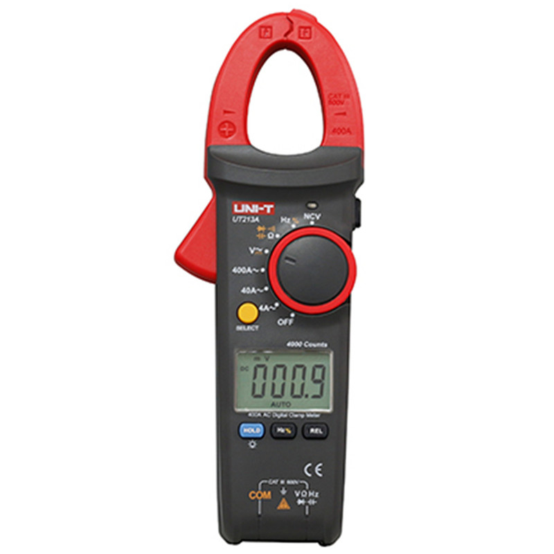 UNI-T UT213A Digital Clamp Meter Multimeter AC/DC Voltage Current Resistance Capacitance Diode Continuity NCV LCD Backlight mastech ms2001f holdheld digital clamp meter 31 2 bit ac digital clamp continuity diode test with backlight