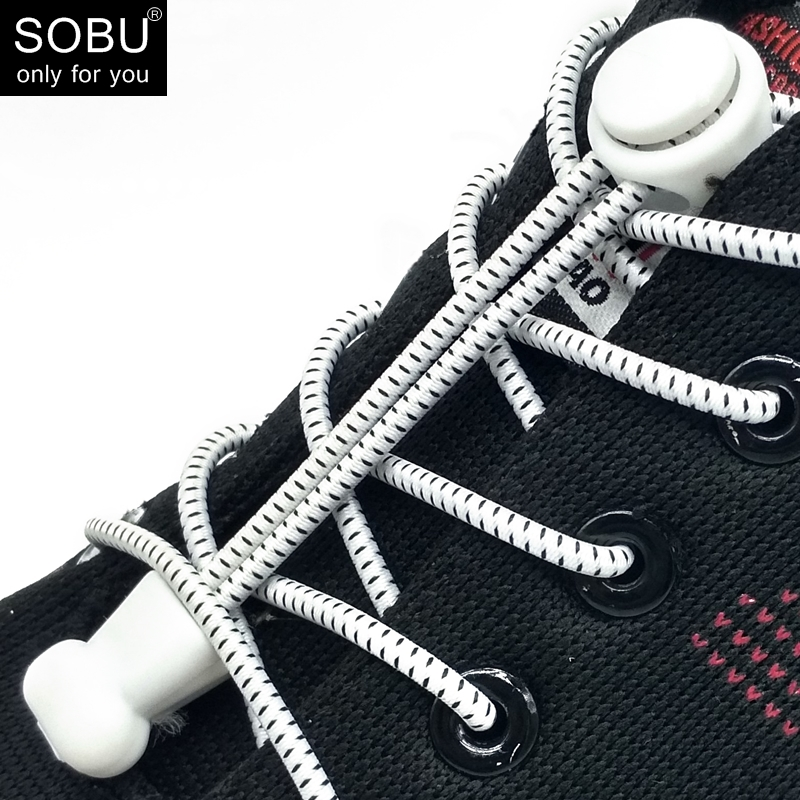 Lock Shoelaces No Tie Shoelace Locking Shoe Laces Elastic Shoelace For Shoestring Running/Jogging/Triathlon/Sports Fitness N006
