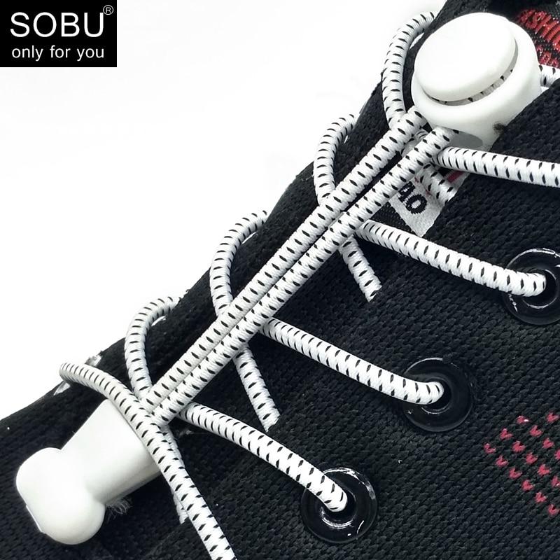 Lock Shoelaces No Tie Shoelace Locking Shoe Laces Elastic Shoelace For Shoestring Running/Jogging/Triathlon/Sports Fitness N006