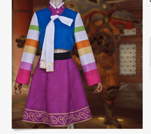 OW D.VA Hana Song Cosplay Costume Custom Made Hanbok Any Size ow amelie lacroix widowmaker cosplay costume custom made any size