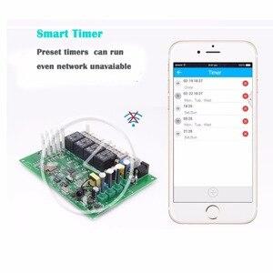 Image 4 - Sonoff interruptor inteligente 4ch pro r2, interruptor de luz 4 gang por wi fi 433mhz rf, com 3 modos de trabalho interligados casa inteligente com alexa