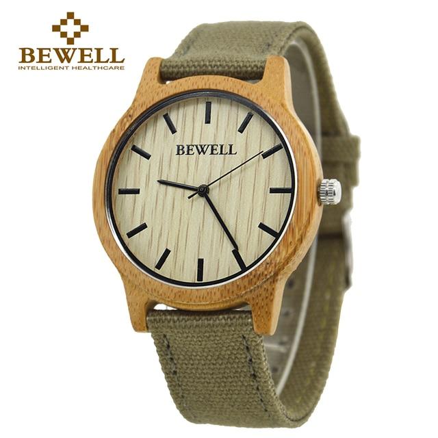 BEWELL Bamboo Wood Watch Luxury Brand Analog Digital Quartz Watch Men Women Watch Dropshipping Ladies Watch Unique Clock Men 134