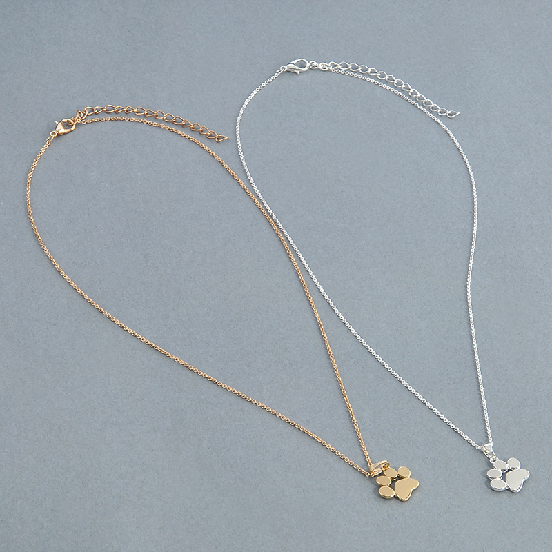 Cute Dogs Footprints Paw Chain Necklaces