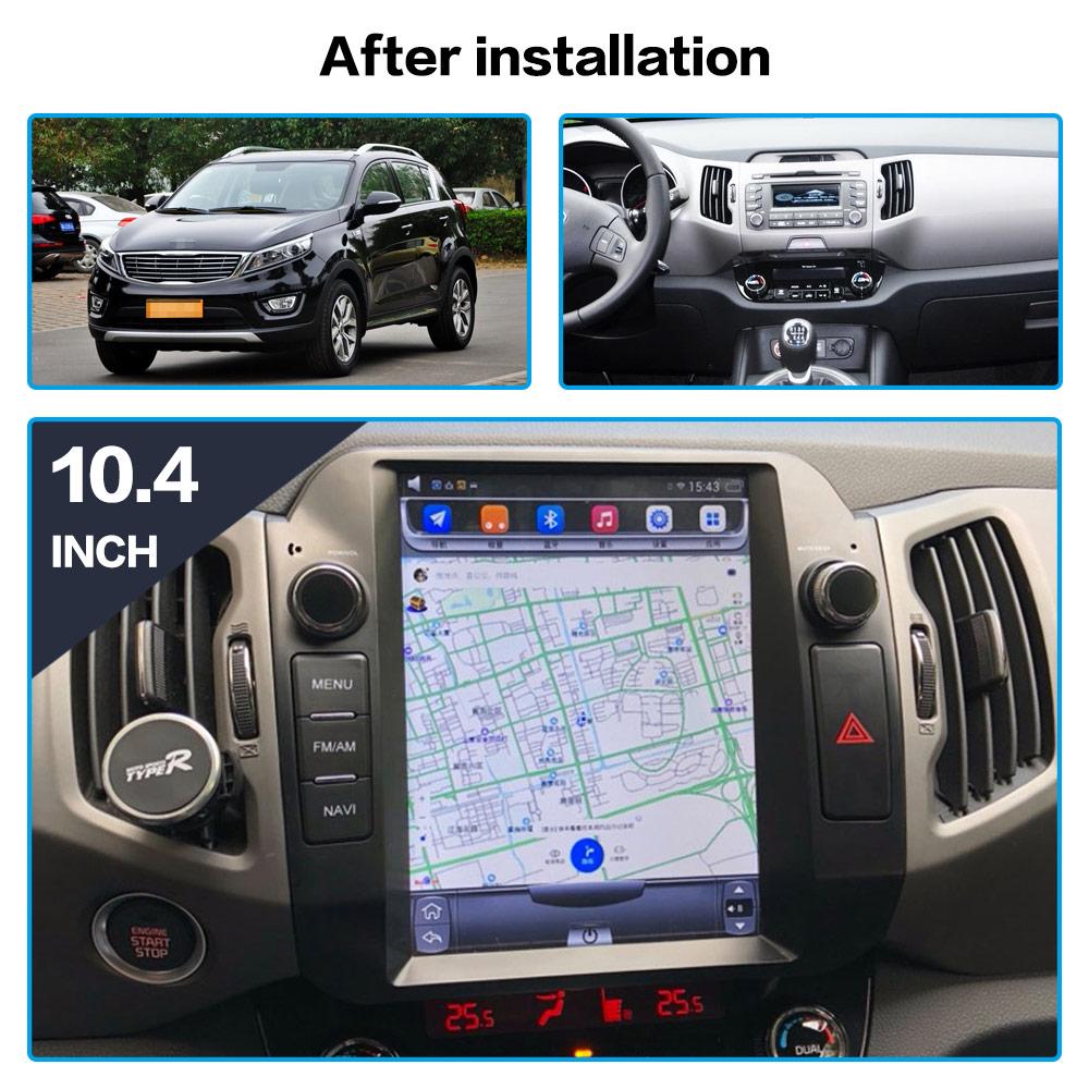 Flash Deal Android 7.1 Car GPS Navigation car DVD Player For KIA Sportage 2016+ Tesla style radio tape recorder auto headunit multimedia 2
