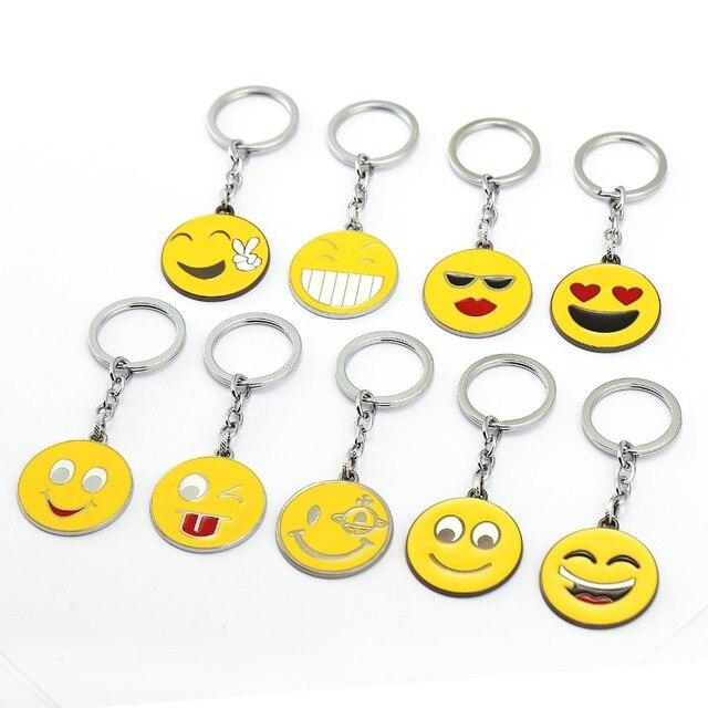 Smiley symbol schlüsselanhänger charming helle gelb lächeln zeichen ...