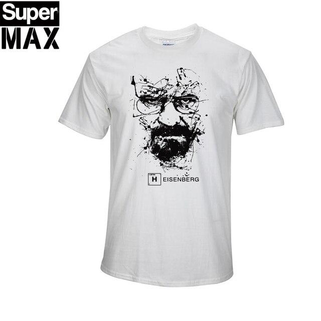 Высокое качество ХЛОПКА с коротким рукавом печати случайные люди гейзенберг breaking bad печати футболка T01