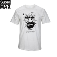 CXT03 100 COTTON Short Sleeve Print Casual Men Breaking Bad Print T Shirt