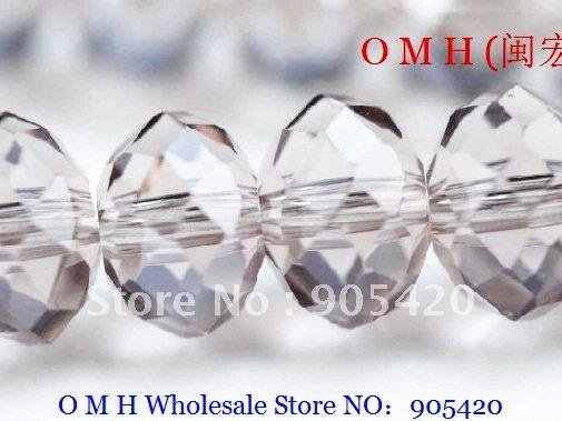 564f0af631c46 OMH wholesale! 200pcs packs purple ball glass crystal rondelle spacer beads  6mm OMH110