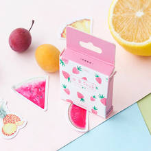 45pcs/pack fresh fruit series adhesive sticky home decoration label  stationery stickers scrapbooking diary diy for photo album