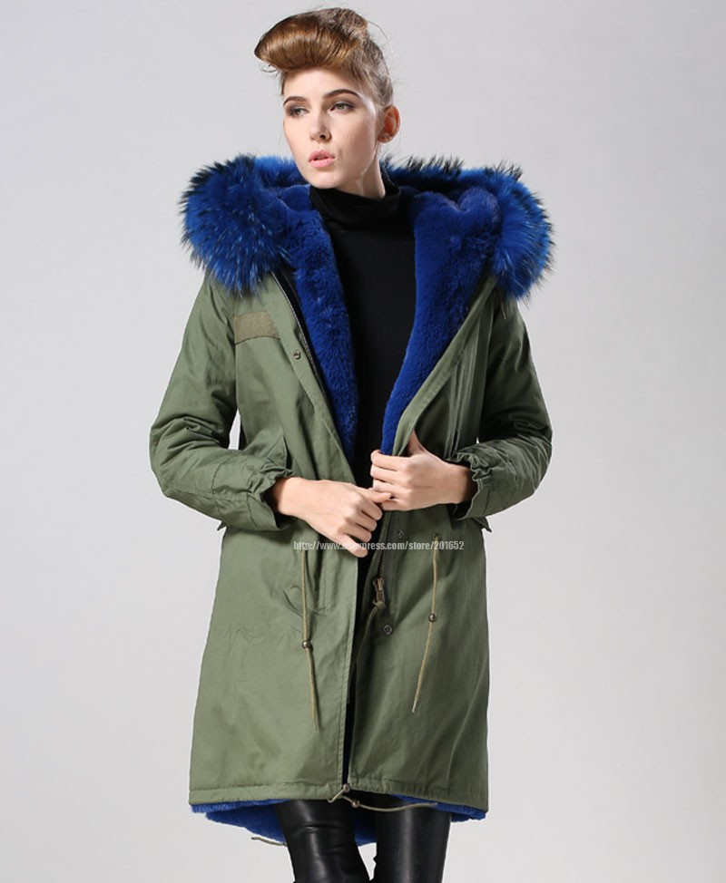 Women raccoon Winter Warm Parka high quality Faux Fur parka Hooded Coat Overcoat Tops Women's Fur Jacket 27