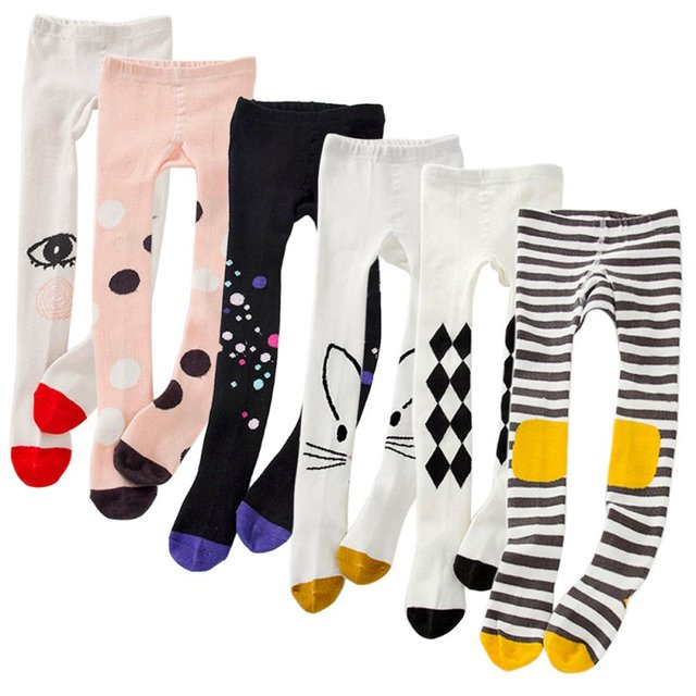 Cotton Leggings for Girls with Colorful Cartoony Designs