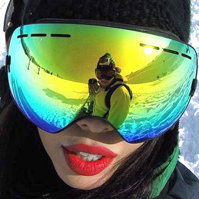 ФОТО Be Nice Brand Outdoor Wide View Ski & Snowboard Goggles with Detachable Dual Layer Anti-Fog UV-400 skiing eye wear  Snow-3100