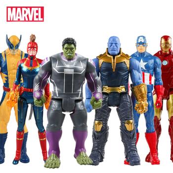 30cm Marvel Avengers Endgame Thanos Spiderman Hulk Buster Iron Man kapitan ameryka Thor Wolverine Action figurka zabawka dla chłopca prezent tanie i dobre opinie Disney Model CN (pochodzenie) Unisex None 12 30cm druga edycja 3 lat Wyroby gotowe Zachodnia animacja Produkty na stanie