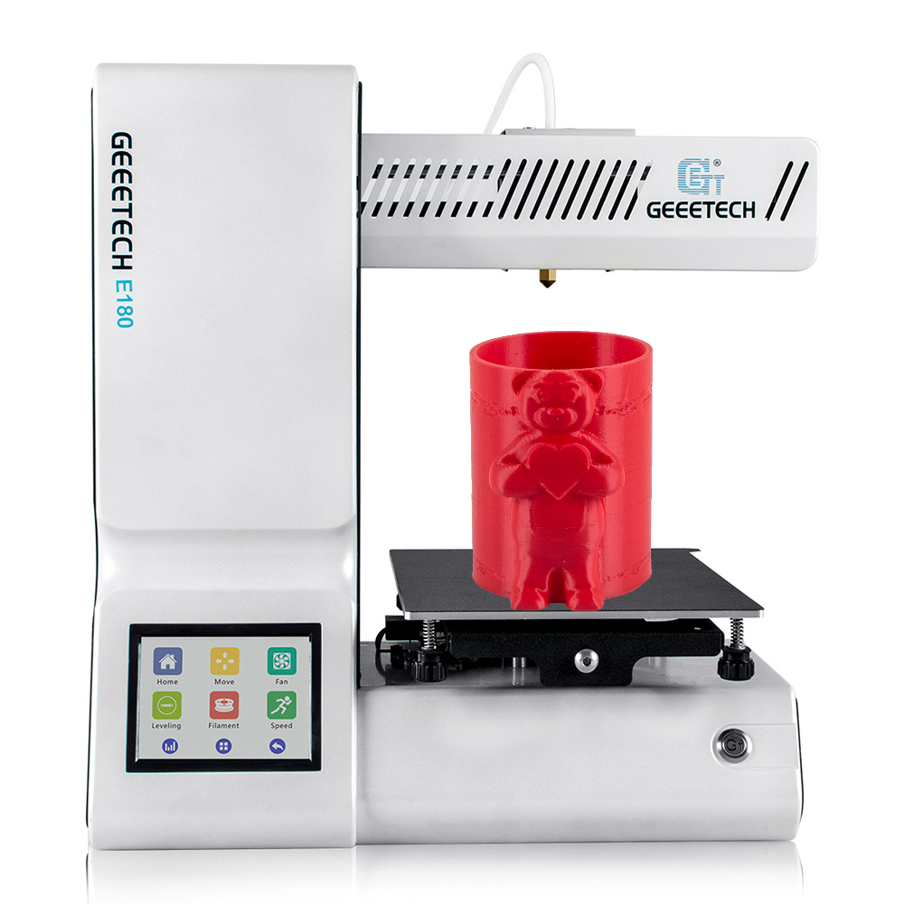 Geeetech MINI 3D Printer E180 Open Source High Precision Wifi Function Portable 3D Printer Touch Screen 1.75mm 0.4mm Only PlA