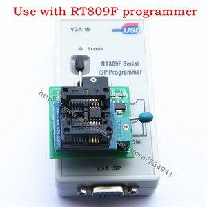 Image 3 - 送料無料 100% origanil 最新 RT809F 液晶 isp プログラマ + 10 アダプタ + sop8 IC テストクリップ + 1.8V アダプタ + TSSOP8/SSOP8 アダプタ