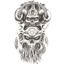 5cd519fb4cbe8 Devil octopus man Temporary Tattoos men Pirates of the Caribbean Waterproof  Body Arts Flash Tattoo Fake Tatoo Henna Tattoo