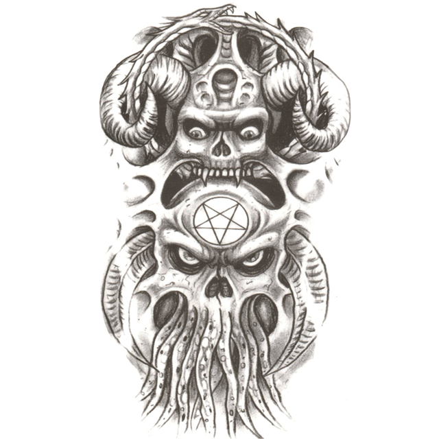 Duivel Octopus Man Tijdelijke Tattoos Mannen Pirates De Caribbean