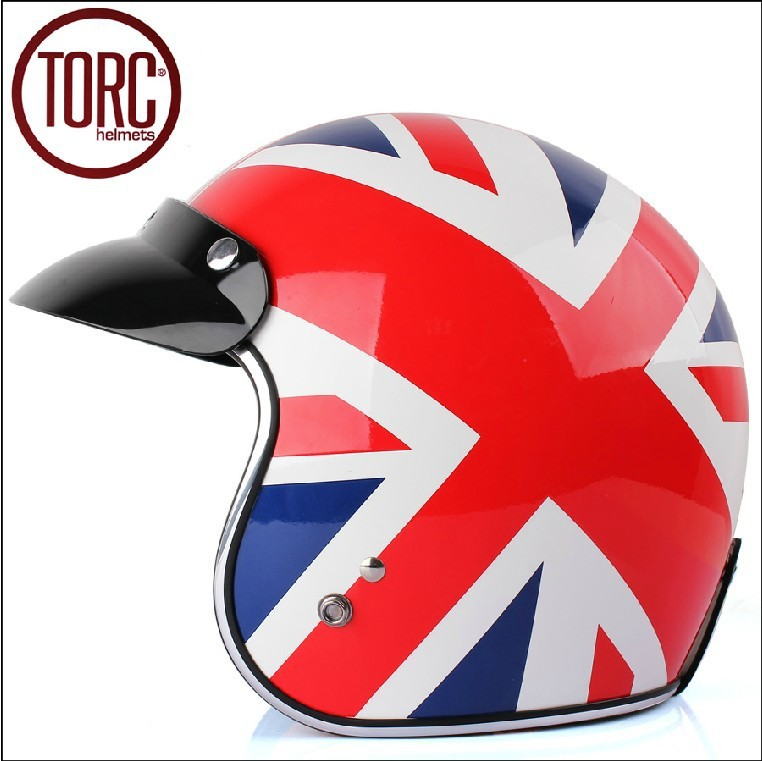 Здесь можно купить   High quality Fashion TORC motorcycle helmet,vintage 3/4 helmet,Sctoor open face helmet,Halley half helmet,the Union Flag Автомобили и Мотоциклы
