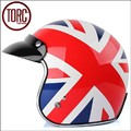 High quality Fashion TORC motorcycle helmet,vintage 3/4 helmet,Sctoor open face helmet,Halley half helmet,the Union Flag