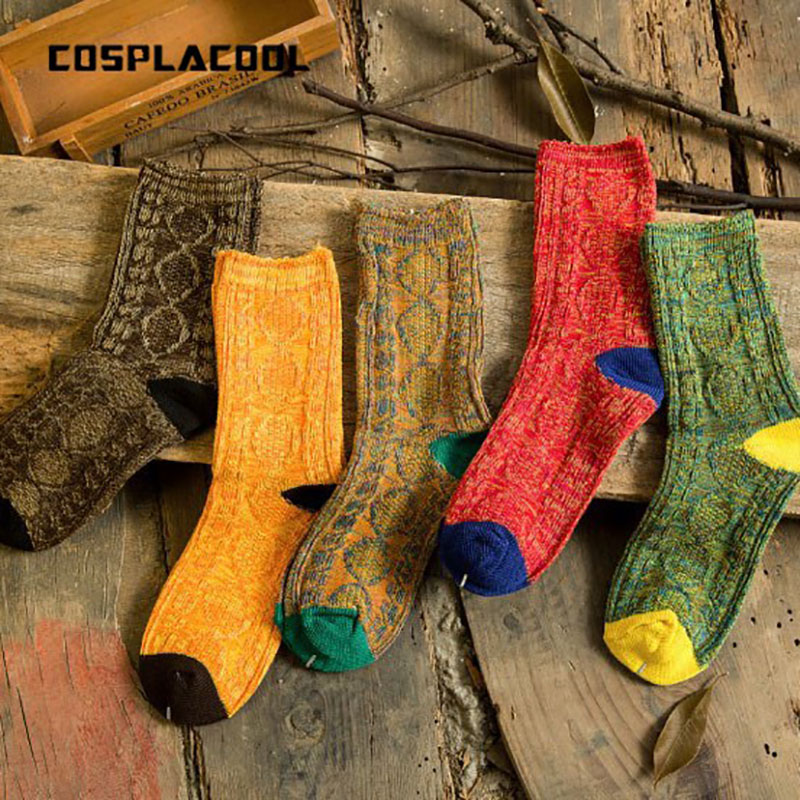[COSPLACOOL]Warmer Wool Sen Department Candy Color Socks Women Femme Creative Japan Harajuku Meias Funny Socks Calcetines Mujer