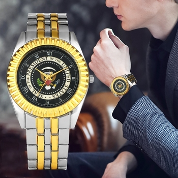 45th President Of The United States White House Gold Coin Donald Trump Mens Watch Seal Of President Of America Clock Collections jerusalem israel united states embassy trump challenge coin dedicated may 14 2018