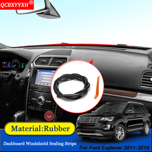 QCBXYYXH Car styling Rubber Anti Noise Soundproof Dustproof Car Dashboard Windshield Sealing Strips For Ford Explorer 2011 2018|Sound & Heat Insulation Cotton|   -