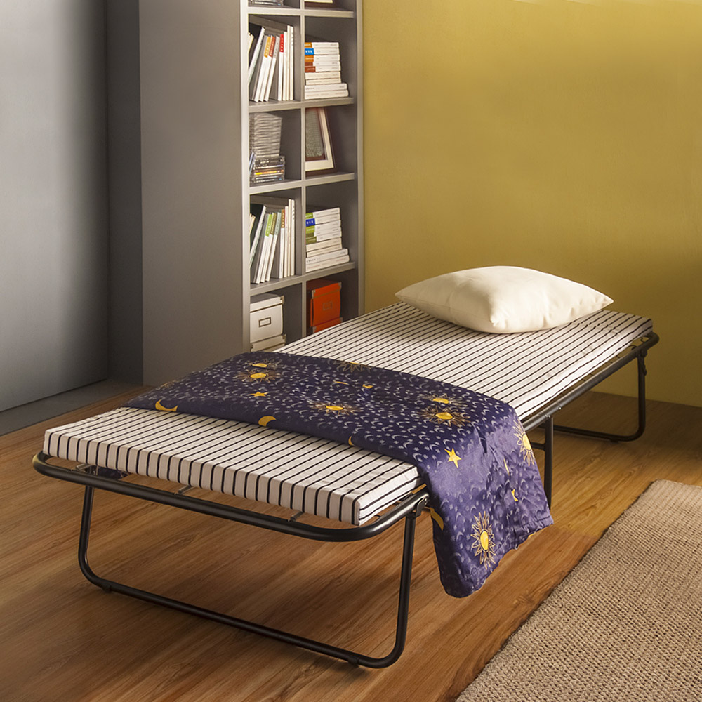 Ikayaa Us Stock Portable Single Folding Guest Bed Cot With Mattress Cover Metal Frame 110kg Capacity Bedroom Furniture In Beds From On