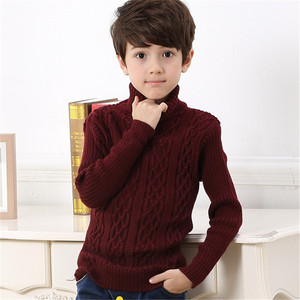 Image 5 - 2020 New Autumn Winter Boys Sweater Long Sleeved Round Collar Pullover Sweater Pure Color Knitting Fashion Children Clothes