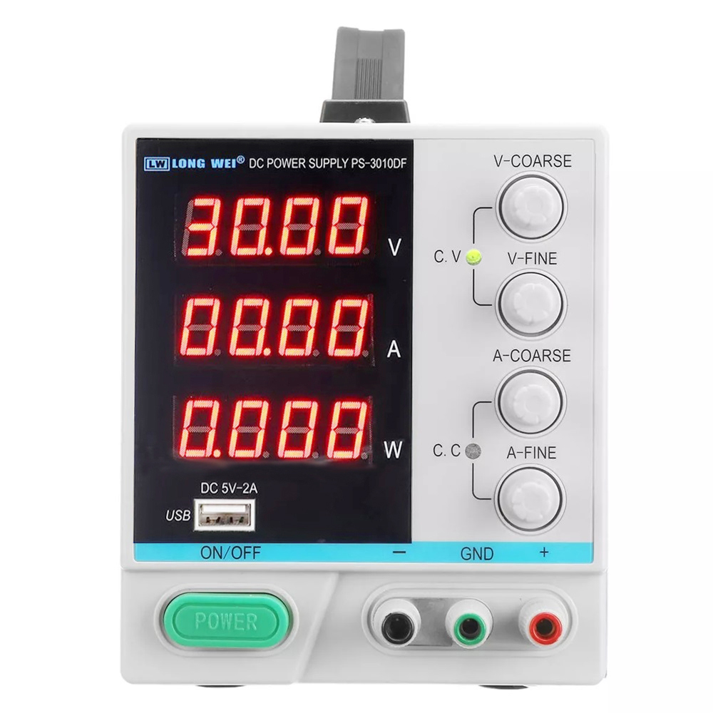 Image 3 - New LW  PS 3010DF laboratory DC power supply 30V10A high precision4 digit LED display USB charging repair switching power supply-in Switching Power Supply from Home Improvement