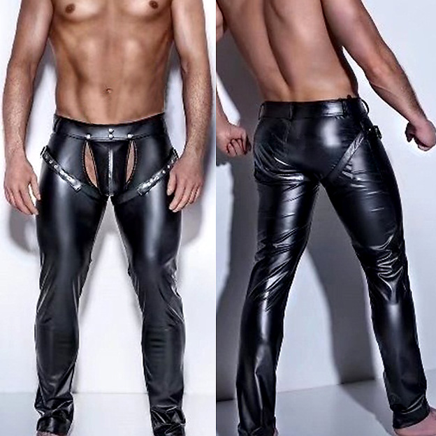 Sexy Mens Erotic Leather Underwear Soft Breathable Bikini Lingerie Classic Traceless Underpants