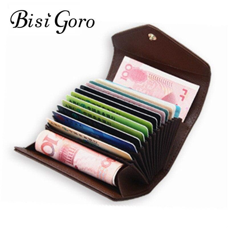 BISI GORO 2018 Frauen Kreditkarteninhaber Mode Frauen Brieftasche Munfuctional Erweiterbar ID Inhaber Geldbörse Damen Taschen 5 Farben