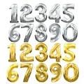 32 pulgadas de Oro Plata Número Digit Foil Globos Globos De Helio Fiesta de Cumpleaños Fuentes Del Partido Evento Decoración De La Boda Globos de Aire