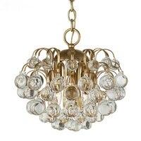Американский стиль D38cm простой кристалл подвесной светильник гардероб дизайнер балкон проход вестибюль небольшие подвесные светильники