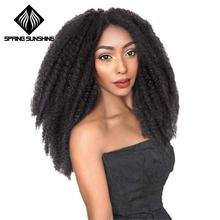 Spring Sunshine Soft Afro Kinky Natural Marley braiding Extension For Braids 18 100g Synthetic Crochet Hair