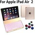 7 красочных алюминиевых беспроводных Bluetooth клавиатура чехол для Apple iPad Air 2/Air2 iPad 6 9 7 A1566 A1567 + пленка + ручка