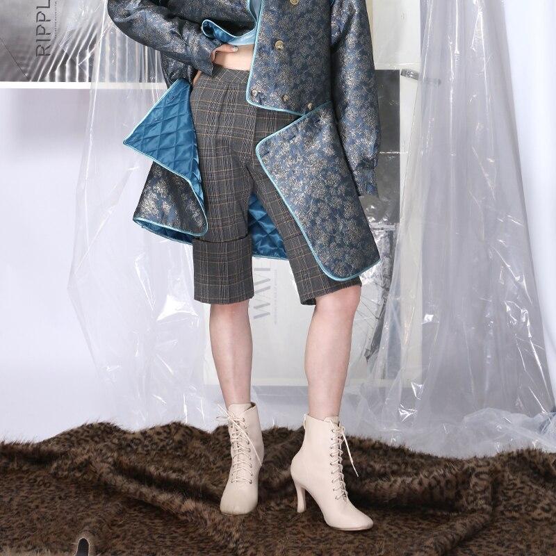 Invierno Mujeres Cintura Encuentro Alta Getsring Pantalones Lápiz Gray Mitad Mujer Las La Gris De Otoño Rodilla Nuevo Longitud wqxI5Z5