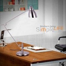 Marmenkina Modern kaliteli masa lambası klip ofis Led masa lambası esnek masa lambası okuma lambası AC110V 220V 230V 240V