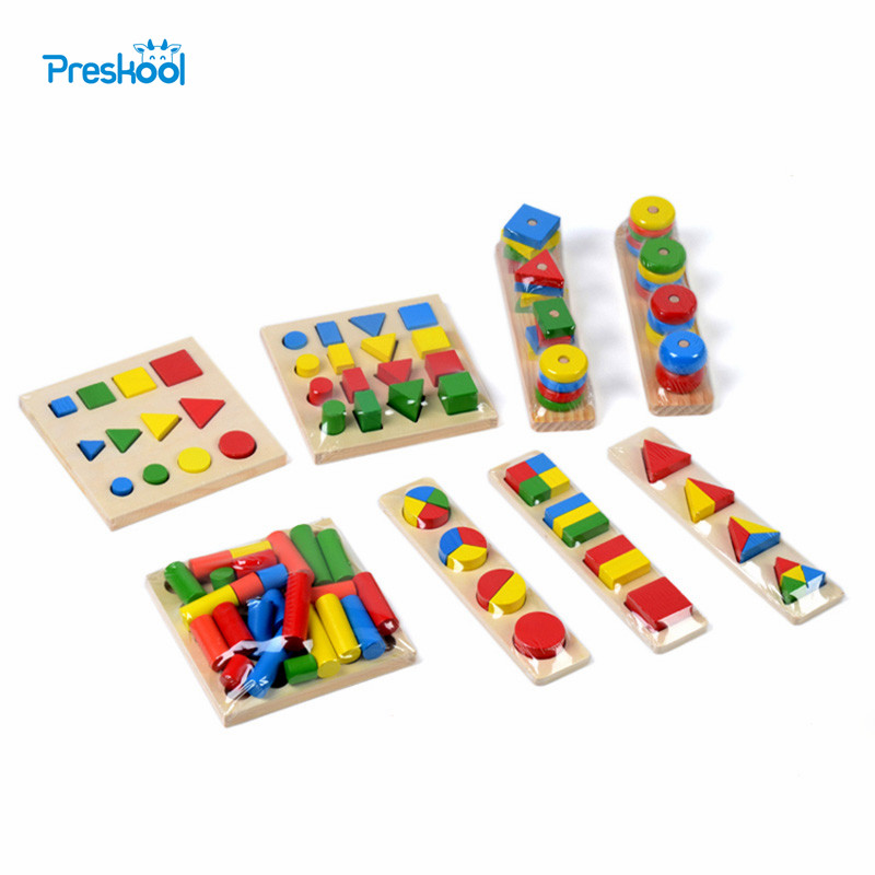 Bebek Oyuncak Montessori Duyusal Oyuncaklar 1 grup = 8 parça Erken Çocukluk Eğitim Okul Öncesi Eğitim Çocuk Oyuncakları Brinquedos Juguetes