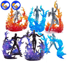 Flame Efeect Impact flamboyance Accessories For Saint Seiya Dragon Ball Anime Action Figure Robot Scene Decoration Model Toys cmt instock original bandai saint seiya ex leo aiolia action figure myth metel armor toys figure