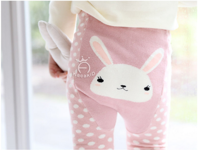 2016 весной новый каваи мультфильм кролик штаны хлопка мультфильм большие PP брюки два / комплект младенца