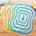 4 Pcs/Lot Flexible Kitchen Plastic Chopping Block Cutting Board Breadboard Non-slip Frosted Antibacteria Cutting Block