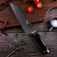 2019 NEW Damascus steel 8 inch chef knife Japanese vg10 kitchen knives Gyuto G10 handle handcraft sharp blade cook slicer Cutter