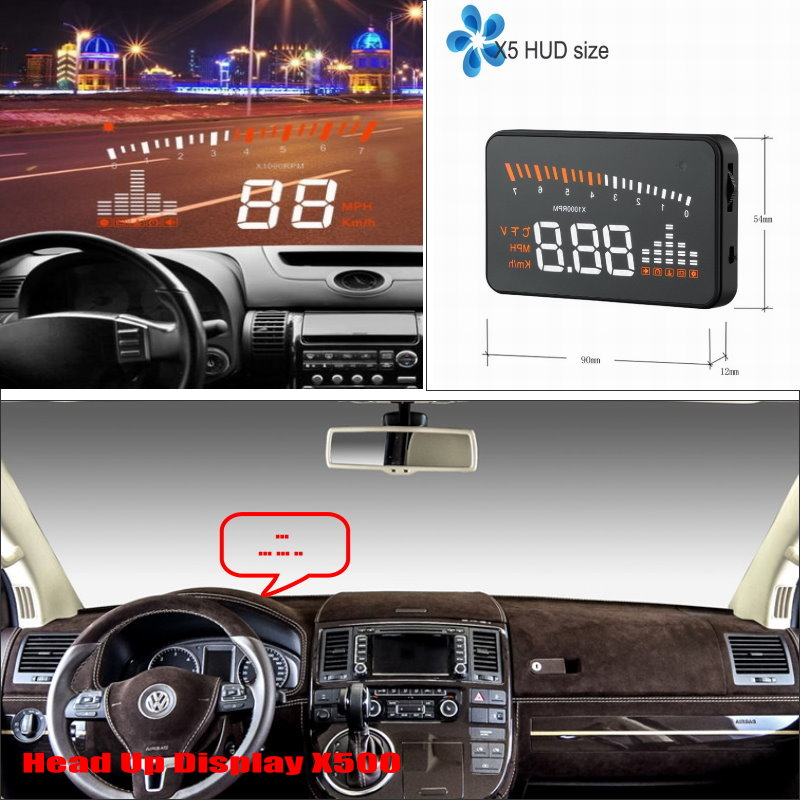 Car Computer Screen Display Projector Refkecting Windshield For Volkswagen VW Transporte ...