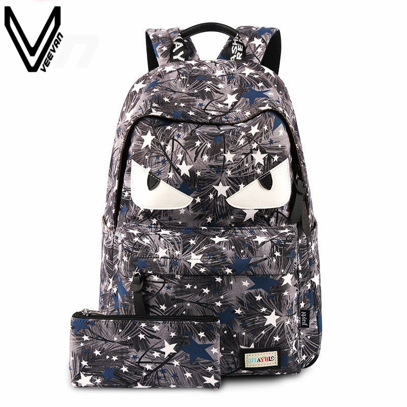 VN Brand 2016 New Demon Eyes Bags Monster Backpack Little Devil School Bags For Teenage Girls Cartoon Gengar Backpacks Boy Bags 16 inch anime teenage mutant ninja turtles nylon backpack cartoon school bag student bags double shoulder boy girls schoolbag