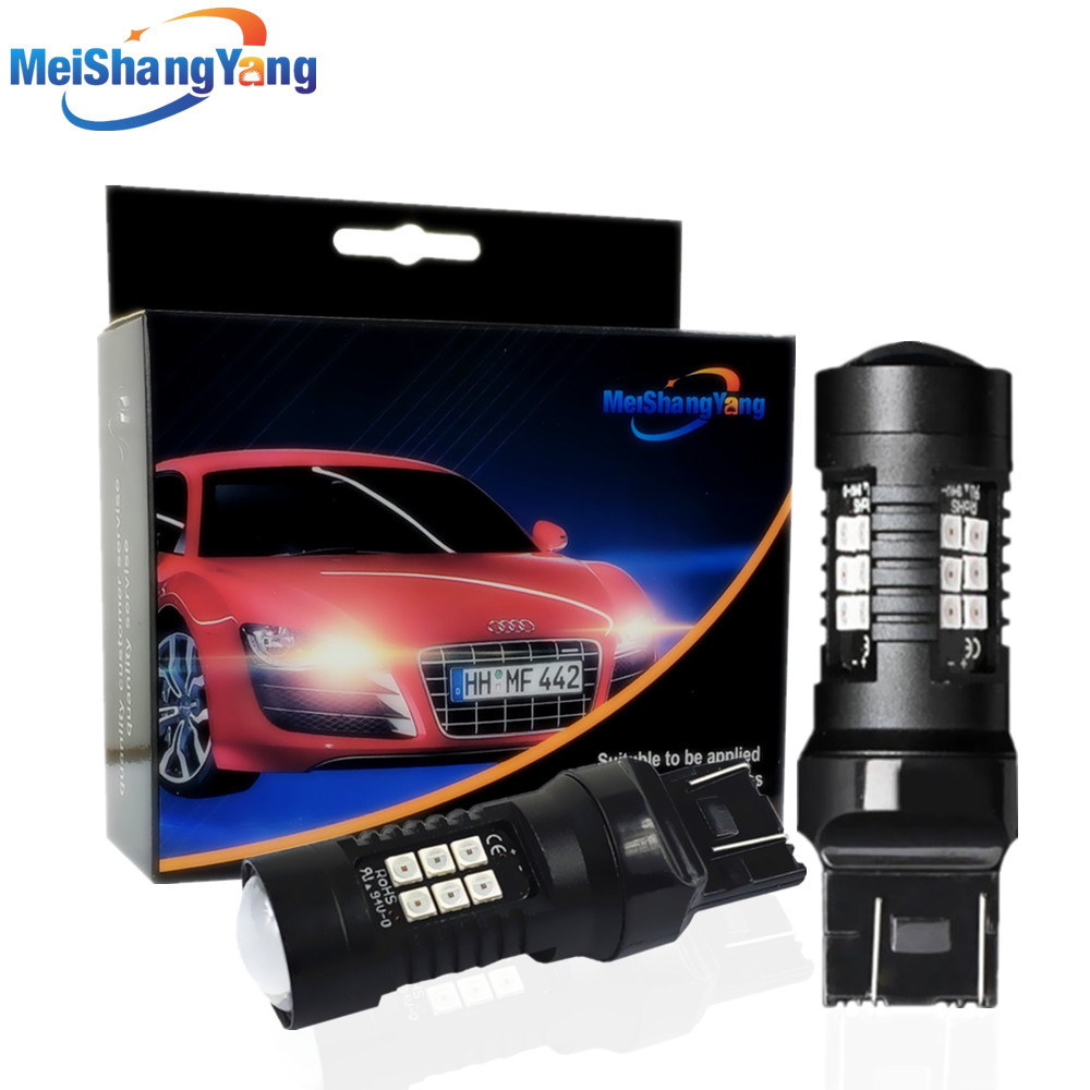 2pcs 1200Lm T20 W21W LED W21/5W WY21W 7440 7443 Bulb T25 3157 3156 p27/7w Car Brake Reverse Light 12V Lamp Turn Signal