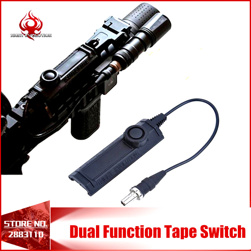 Always Brighting Night Evolution Remote Light Tail Dual Switch Softair Accessory Switch for Always Bright NE07010-BK