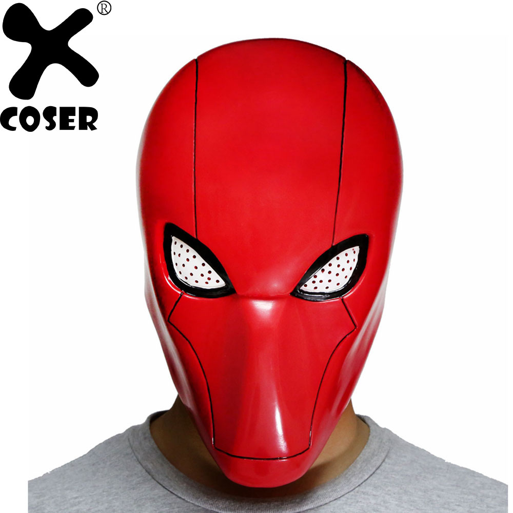 XCOSER Hot Sale Batman Fire Magic Red Mask Movie Cosplay Props Men Women Party Cool Cosplay Costume Accessories Masks With Mesh