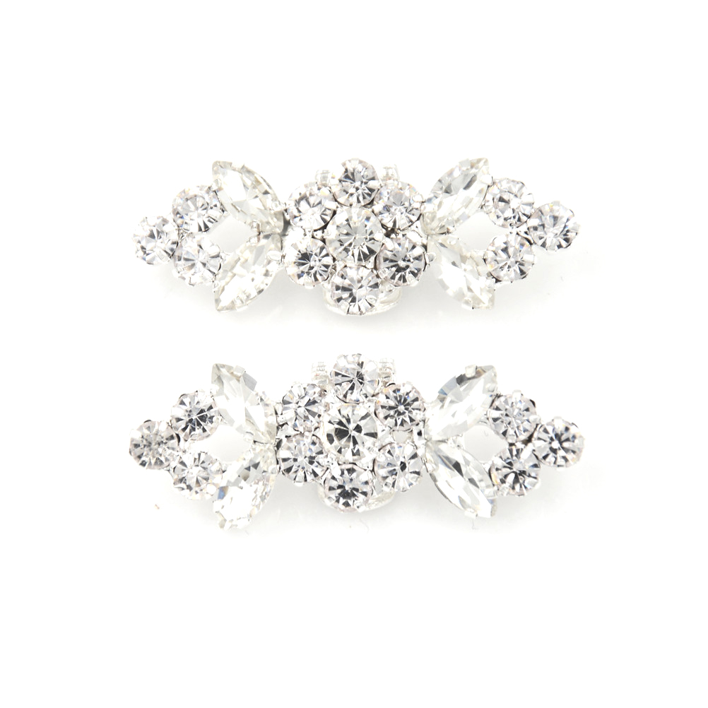 2PCS New Style Shinning White Zircon Crystal Flower Shoelaces Shoe Decoration Easy Clip Bride Shoes Accessories недорго, оригинальная цена