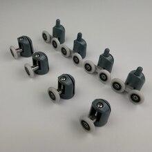 До 4 никель-металл-8 шт./компл. душевые двери ролики направляющие колёса ролики верхней части или нижняя часть корпуса. Diameter20mm/22 мм/23 мм/25 мм/27 мм