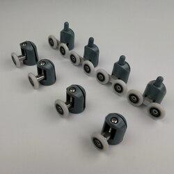 До 4 никель-металл-8 шт./компл. душевые двери ролики направляющие колёса ролики верхней части или нижняя часть корпуса. Diameter20mm/22 мм/23 мм/25 мм/27 ...